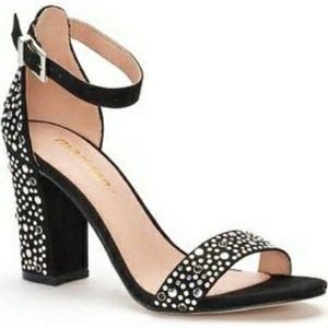 NWB Madden Black Silver Studded Ankle Strap